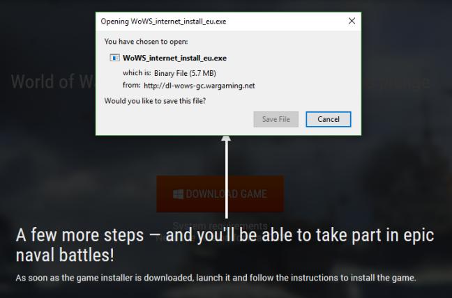 Installer downloading