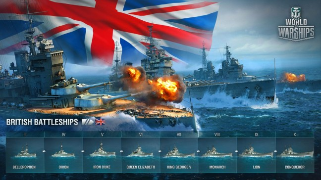 The British Battleships have come to world of Warships (image)