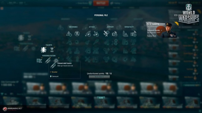 World of Warships Update 0.6.9 hero commander skills